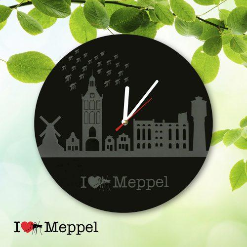 Meppel cadeau souvenir ilovemeppel I love Meppel mug meppeler mug klok skyline meppeler toren muggenzifters muggenzifter