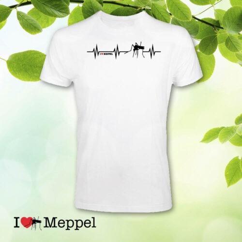 Meppel t-shirt cadeau souvenir ilovemeppel I love Meppel Meppelshirt heartbeat hartslag