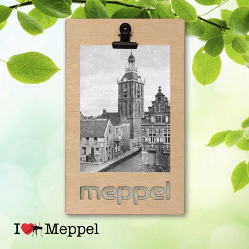 foto oud meppel meppeler toren ansichtkaart meppel wanddecoratie meppel cadeau meppeler mug i love meppel klembord klembordje kado