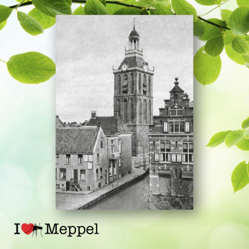 foto oud meppel meppeler toren poster meppel wanddecoratie meppel cadeau meppeler mug i love meppel