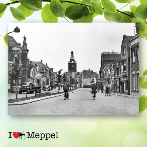 foto oud meppel prinsenplein poster meppel wanddecoratie meppel cadeau meppeler mug i love meppel
