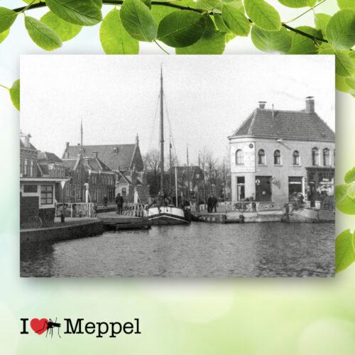 foto oud meppel tipbrug emmabrug heerengracht gasgracht oosteinde poster meppel wanddecoratie meppel cadeau meppeler mug i love meppel