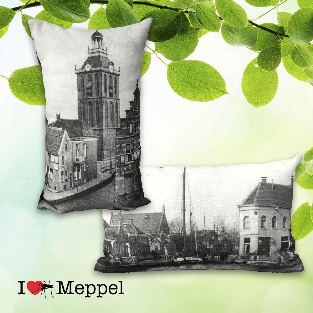 kussen cadeau souvenir Meppel oud Meppel