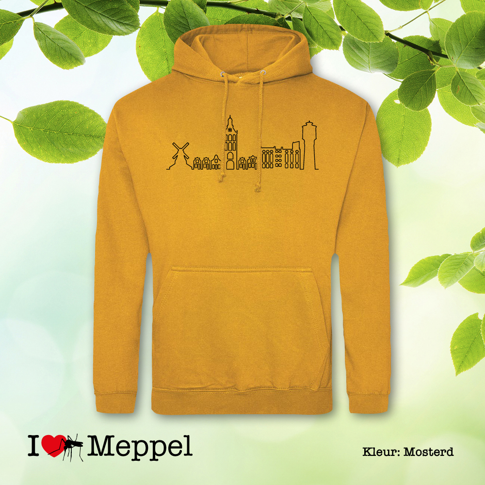 Meppel trui hoodie capuchontrui cadeau souvenir ilovemeppel I love Meppel Meppelshirt skyline Meppel Möppelt meppeler toren